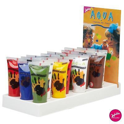 ♥ Fingerfarben Malen Farbe Finger Kinder Schminke Kinderschminke Aqua Jofrika