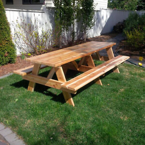 Picnic Tables - 3ft to 10ft size - Spruce, Treated, Cedar