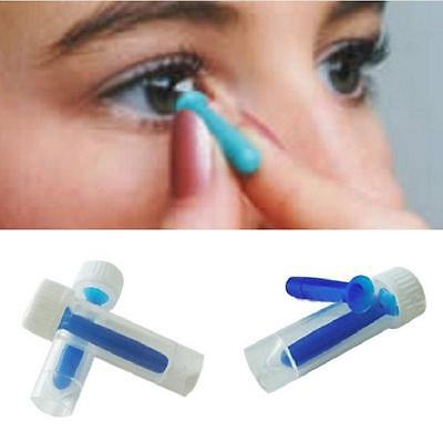 Contact Lens Inserter For Hard /RGP and Soft Remover Halloween Blue #n