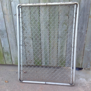 "ALUMINUM FRAME  GATE 34"" X 46""H - GREAT CONDITION"