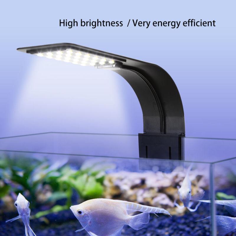 LED Lampe Pflanzen Licht Fisch Beleuchtung 10W Pflanzenleuchte Aquarium Schwarz
