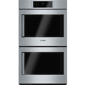 "Bosch HBLP651RUC Benchmark Series 30"" Double Wall Oven Right Swi"