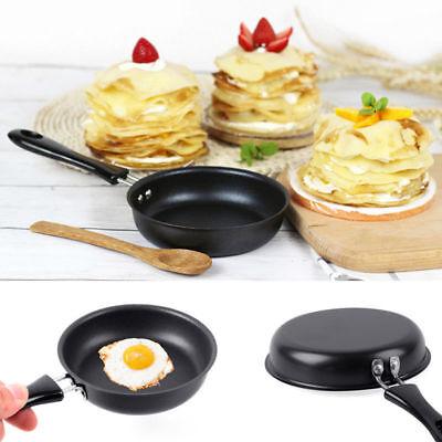 1Pcs 2cm Mini Black Non-Stick Egg Pancake Omelets Fry Frying Pan Baking Cookware