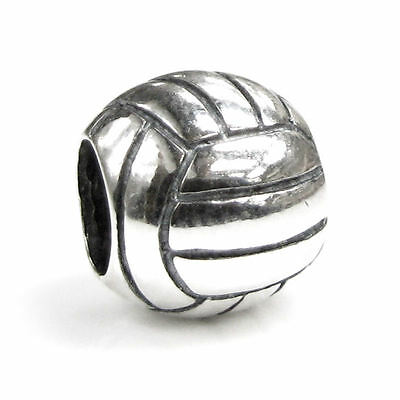 Sterling Silver Volleyball Sport Game Bead for European Charm Bracelets](Volleyball Charm Bracelet)