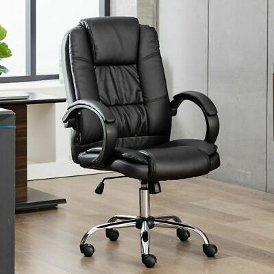 Ergonomic High Back Pu Leather Chair Computer Office Desk Seat Executive Task