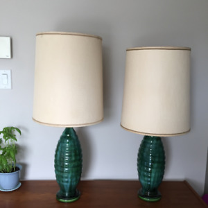 Lamp shade frame kijiji in ontario buy sell save with pair of mid century vintage table lamps greentooth Gallery