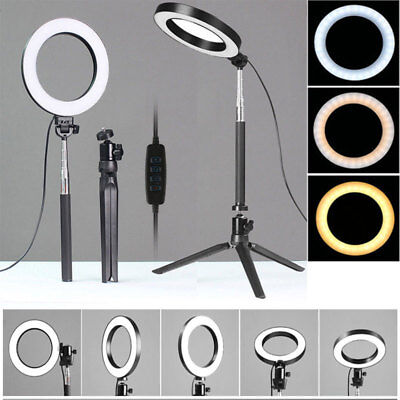 LED Ring Light with Stand Dimmable LED Lighting Kit Makeup Live for Phone Camera - Led Ring