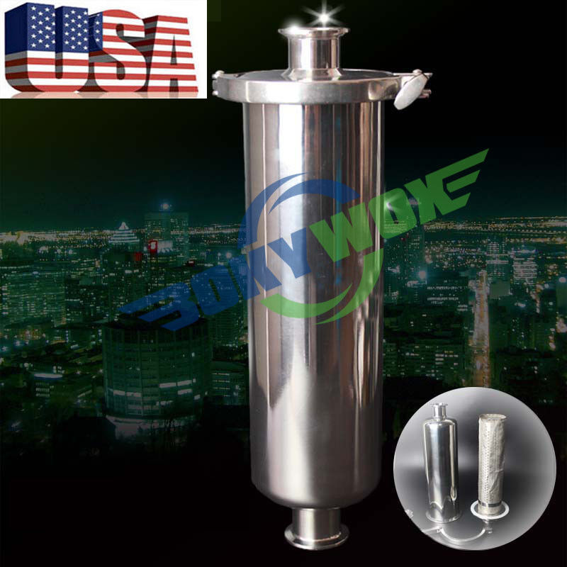 """1.5"""" Tri Clamp Sanitary stainless Steel 304 Inline Straight Strainer Filter"""