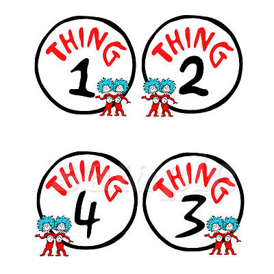 THING 1  2  IRON ON TRANSFER