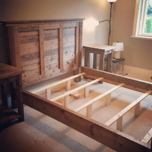 Farmhouse Rustic Queen Bed