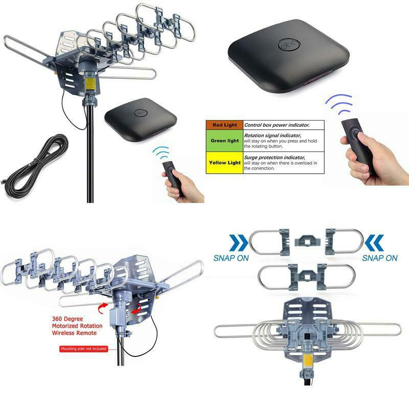 Pingbingding Outdoor Digital Hd Tv Antenna 150 Miles Motoriz