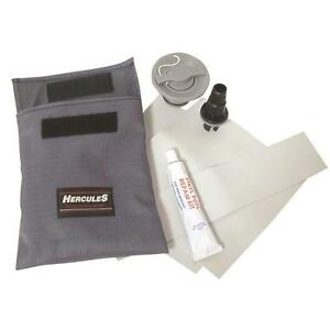 Inflatable Dinghy / Boat Repair Kit - PVC Glue Patch Valve & Adaptor - New N61