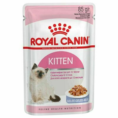 Royal Canin Kitten Cat Wet Pouches In Jelly 85g x 12 FREE FAST DELIVERY