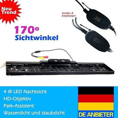 Funk 170° IR LED Rückfahrkamera kennzeichen kabellos Nummernschild ...