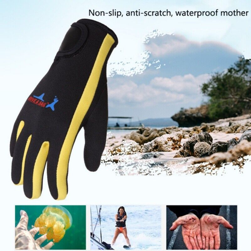 Neoprene Sports Warm Gloves Diving Surfing Spearfishing Snorkeling Gloves 1.5mm