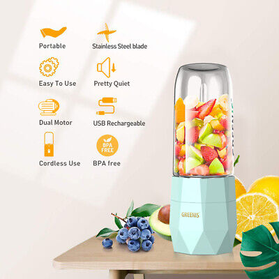 Carriable Personal Blender Juicer Bottle Smoothie Mixer USB Rechargeable 400ML