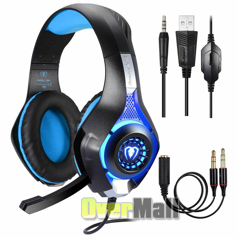 Pro Gaming Headset With Mic XBOX One Wireless PS4 Headphones Microphone 2019