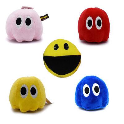 Pixels Plush Toys Doll Q-Bert Pacman Ghost Moive Soft Stuffed Cartoon Toys