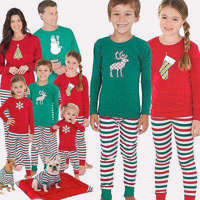 Christmas XMAS Kids Girls Boys Baby Pajamas Set Sleepwear Nightwear Size 2~14T](Girls Size 14 Christmas Pajamas)
