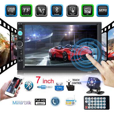 "2 DIN 7"" HD Car Stereo Radio MP5 FM Player AUX Android/IOS Mirror Link + Camera"