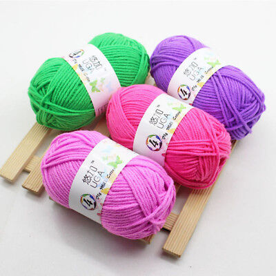 UGA NEW 42 color Soft milk Cotton Crochet Knitting wool Baby Knit Yarn lot brand