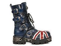 M.184-C1 New Rock Blue Union Jack Boots