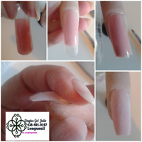 Pose d'ongles technique par moulage en Gel