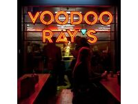 Front of house Management team for Voodoo Ray's Camden- NEW OPENING