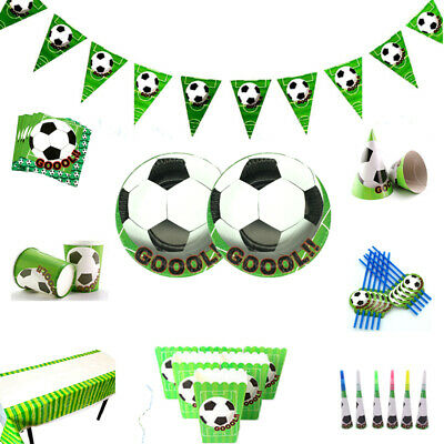 Football Soccer Boys Birthday Party Supplies Favor Tableware Decor Plates - Soccer Birthday Party Supplies