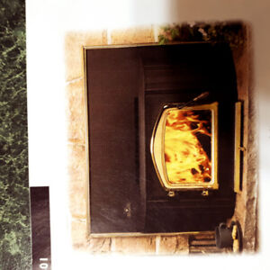 Napoleon Wood Burning insert for a fireplace.
