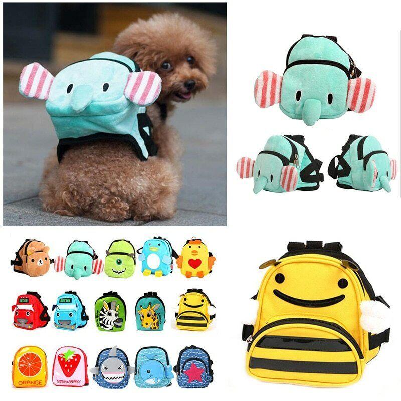 Cute Pet Bag Carrier Dog Canvas Dourable Backpack School Bag
