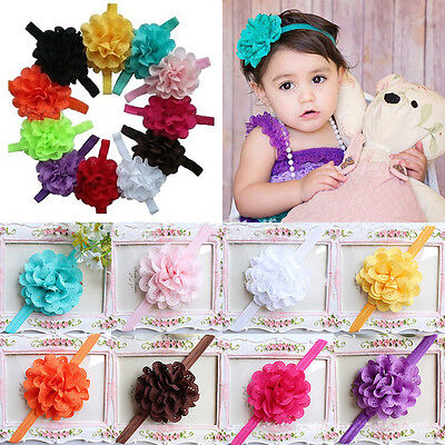 10pcs Girl Headbands Baby Flower Bands Toddler Infant Headband Hair Bow Band