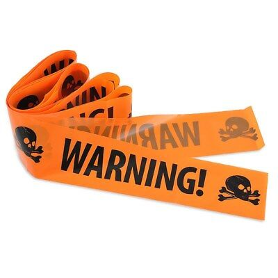 Halloween Party Warning Tape Sign Decoration Window Prop Decoration Plastic G9W8