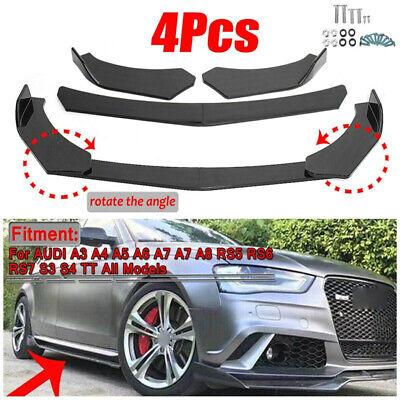 4pcs Universal Carbon Fiber Front Bumper Lip Splitters Spoiler Cover For VW CL