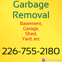 Garbage Removal JUNK TO DUMP - Professional service!!!