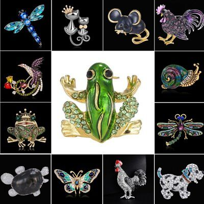 Frog Jewelry - Cat Dog Butterfly Frog Animal Brooch Pin DIY Wedding Bouquet Jewelry Family Gift
