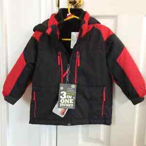 The Children's Place 3in1 jacket red/black new with tag size 2