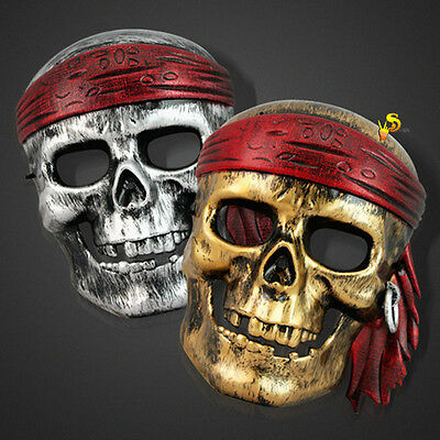 Halloween Party Movie 2017 (Pirates of The Caribbean Movies Mask Halloween Party Cosplay Costume )