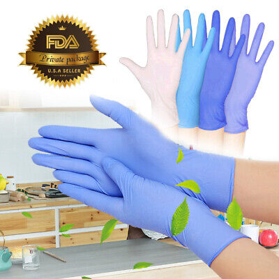 100pcs Nitrile Gloves Disposable Food Grade Powder Free Latex Free 4.8 Mil Thick
