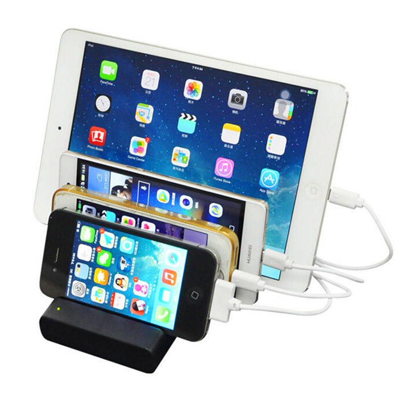 4-Port USB hub Charging Dock Station Charger Stand organizer