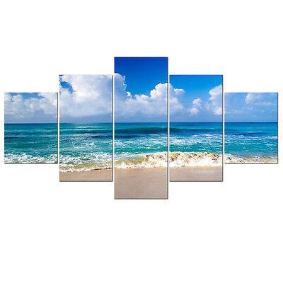 Large Canvas Print Picture Photo Landscape Blue Sea Beach Home Decor Framed