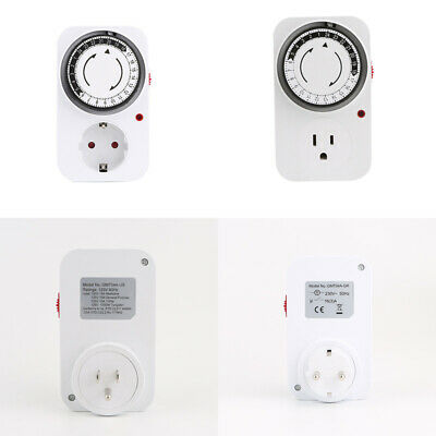 24Hr Mechanical Electrical Plug Program Switch Outlet Timer Energy-Saving Socket Fan Controller Program