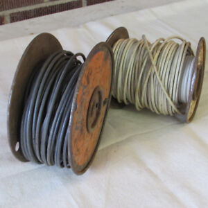 FOR SALE:  TWO PART REELS OF ELECTRICAL WIRE