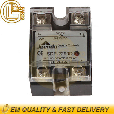 New Solid State Relay Ssr Dc-dc 25a 3-32vdc5-220vdc 90a For Crydom D1d90d1d100