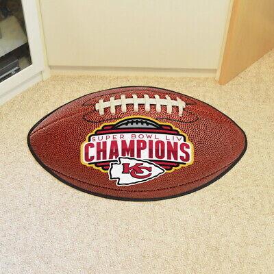 Kansas City Chiefs Football Mat Area Rug Super Bowl LIV Champions Football Field Mat