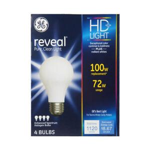GE Lighting Reveal 72-Watt Light Bulb 4 ea