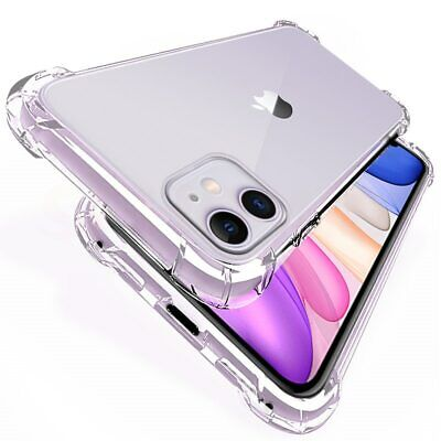 For iPhone SE 2 11,11 Pro Max XR XS MAX X 8 7 6 Shockproof Silicone Clear Case