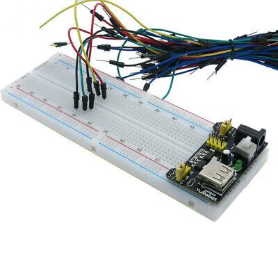 Breadboard Protoboard 830 400 Solderless 3.35v Power Supply Jumper Cable Wires