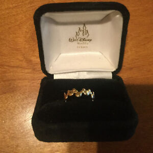Mickey Mouse ring 14kt solid gold size 7 1/2