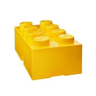 YELLOW LEGO LUNCH / STORAGE BOX NEW KIDS FREE P+P